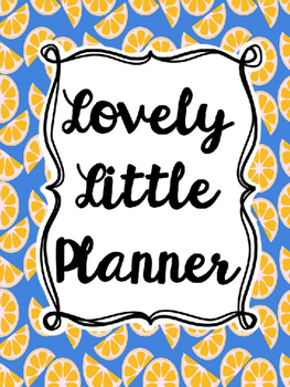Teacher Planner: Blue Orange (Editable)