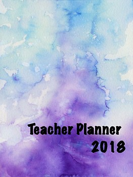 Teacher Planner - Blue and Purple