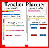 Teacher Planner Book- Teacher's Lesson Planner- Colored Teachers Organizer