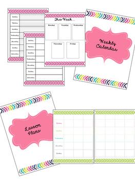 Teacher Planner Bright Aztec Print