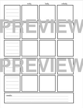 Teacher Planner & Bullet Journal Layout