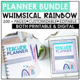 Teacher Planner Bundle 2020-2021 | Whimsical Rainbow