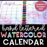 Teacher Planner Calendar 2-page spread 2018-2019