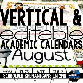 Editable Vertical Calendars
