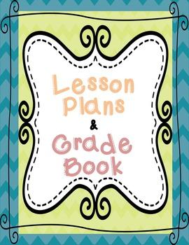 Teacher Planner, Calendar, Gradebook- Chevron