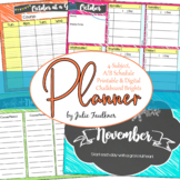 Teacher Planner for High School, A/B Block Schedule or 4 Preps, Brights