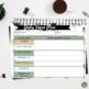 Teacher Planner Calendar for Secondary, A/B Block Schedule or 4 Preps, Dots