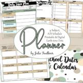 Teacher Planner for High School, A/B Block Schedule or 4 Preps, Dots
