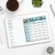 Teacher Planner Calendar, for Secondary Teachers with Multiple Preps, Journey
