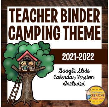 Teacher Planner ~ Camping Theme