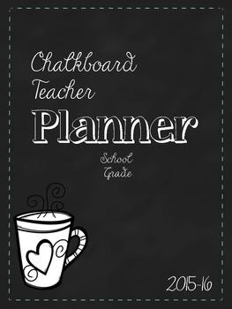 Teacher Planner: Chalkboard Style