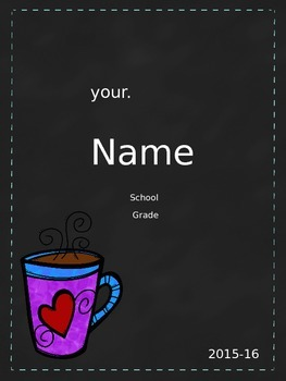 Teacher Planner: Chalkboard Style: Personalize Your Cover FREE