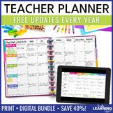 EDITABLE Teacher Planner Binder - Chevron | FREE Updates