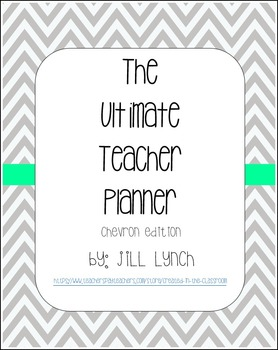 Teacher Planner - Chevron Edition