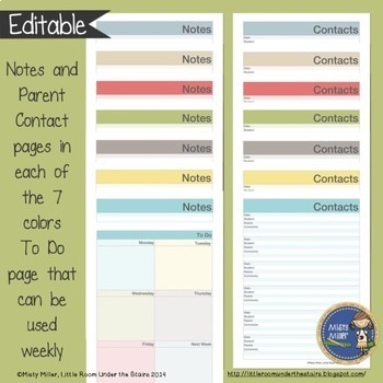 Teacher Planner Binder {Color: Linens}