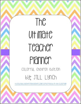 Teacher Planner - Colorful Chevron Edition