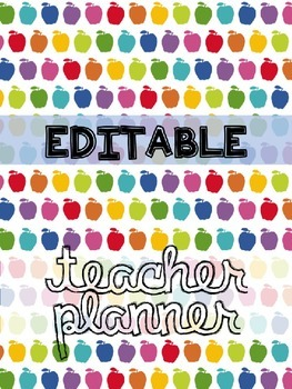 Teacher Planner: An Apple for the Teacher