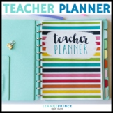 Teacher Planner // Colorful - PRINTABLE AND EDITABLE