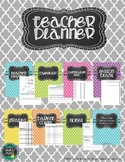 Teacher Planner - Colorful Quatrefoils - The Basics