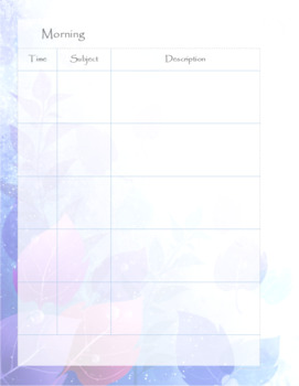 Teacher Planner Coloured Leaves Theme with Daily Schedule *editable in Publisher