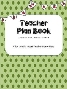 Teacher Planner Cover- Editable