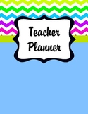 Teacher Planner Cover Pages (Bright Chevron)