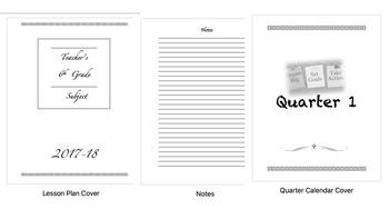 Teacher Planner (Customized Plan Book)