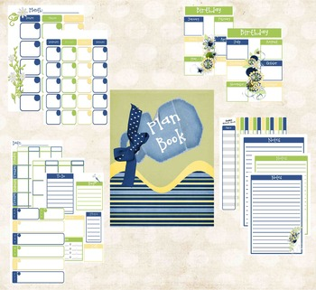 Teacher Planner Daisy Theme (Blue, Yellow and White)