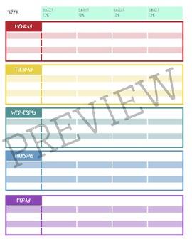"EDITABLE Teacher Planner - Day/School Planner - ""Color Me Floral"" Design"