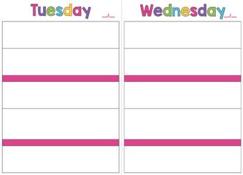 Teacher Planner - Day Version