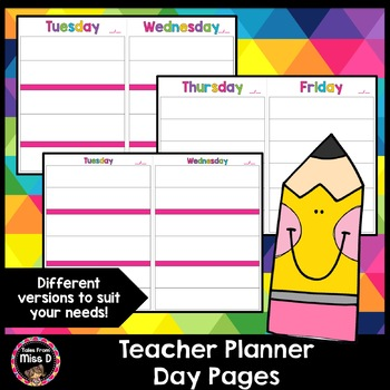 Teacher Planner - Day Version