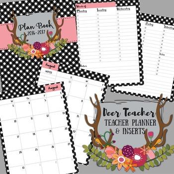 Teacher Binder / Planner: Deer Teacher