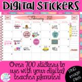 Teacher Planner Digital Stickers Clipart | Agenda