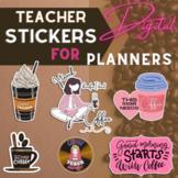 Teacher Planner Digital Stickers Clipart | COFFEE