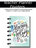 Teacher Planner Dividers