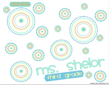 Teacher Planner Dots (3rd Grade CC aligned)