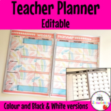 Teacher Planner EDITABLE
