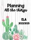 Teacher Planner ELA 2021-2022