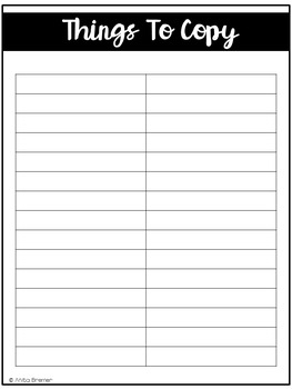 Teacher Planner {Editable}