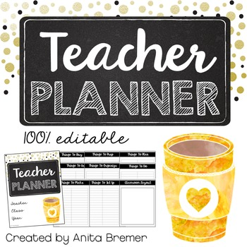 Teacher Planner {Editable}