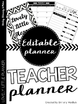 Teacher Planner (Editable)