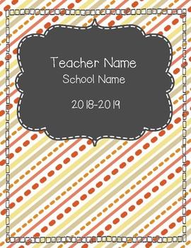 Teacher Planner {Editable} - Citrus 2018-2019