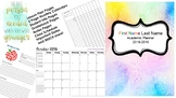 Teacher Planner 2018 - 2019 (Editable)
