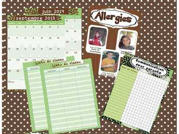 Teacher Planner // Editable //Green Classic/