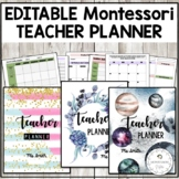 Teacher Planner | Editable | Montessori