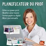 Planificateur 2021-2022 Agenda Prof / FRENCH TEACHER PLANNER