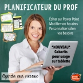 Planificateur 2020-2021 Agenda Prof / FRENCH TEACHER PLANNER