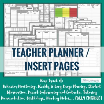 Teacher Binder / Planner Forms