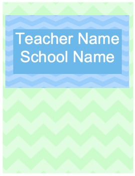 Teacher Planner - Fun Chevron Colors