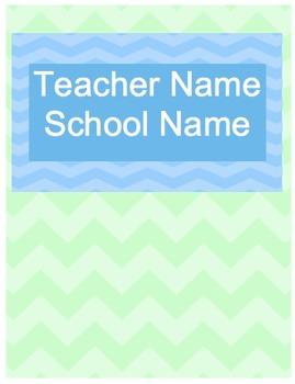 Teacher Planner - Fun Chevron Colors